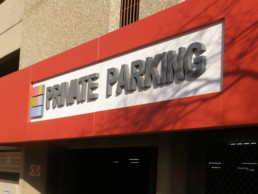 Lightweight Parking Garage Signage