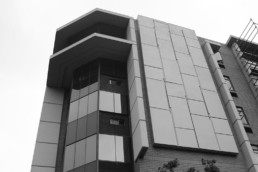 Norwich Place, previous JHI head Office in Sandton. Custom made external cladding
