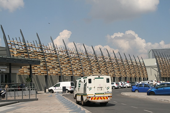 Exterior Screens installed at East Rand Galleria in Boksburg